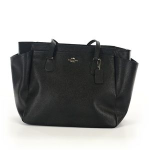 NWT Black Coach Diaper Bag